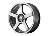 Motegi Racing MR11677098440 MR116 17x7 4x100/4x114.3 Silver W/Machined Flange (40mm Offset) Wheel /