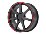 Motegi Racing MR13277041740 MR132 17x7 4x100 Matte Black W/Red Stripe (40mm) Wheel /