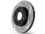 PowerSlot 8184DSL 2005-2009 Mustang GT Pro Stop FRONT Cross-Drilled Rotor - Left /