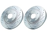 Power Stop AR82102 Front Drilled & Slotted Rotors 2003-2011 Cadillac CTS /