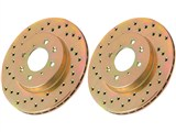 Power Stop AR82109XPR Cross Drilled Rotor Set - Solstice & Sky Rear / Power Stop AR82109XPR