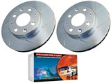 Power Stop SCK4005 Extreme Performance Rear Brake Kit - Slotted Rotors + Ceramic-Kevlar Pads /