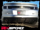 RK Sport 40011043 RK Sport 2010-2013 Camaro Rear Center Diffuser Dual Exhaust Filler - Carbon Fiber /