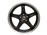 ROH Drift-R Wheels 18x9/18x10 Competition Black with Diamond Polish Lip 2004 2005 2006 Pontiac GTO /