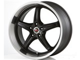 Scarallo Motorsport Drift-R 20x10 / 20x11 Wheels, Tuxedo Black with Diamond Polish Lips /