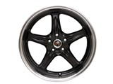 ROH Drift-R Wheels 18x9 Competition Black with Diamond Polish Lip /