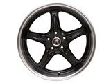 ROH Drift-R Wheels 19X9 Competition Black with Diamond Polish Lip /