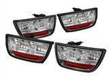 Spyder ALT-YD-CCAM2010-LED-C 2010 2011 2012 2013 Camaro LED Tail Lights - Chrome 5032171 /