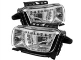 Spyder HD-YD-CCAM2010-DRL-C 2010 2011 2012 2013 Camaro DRL LED Crystal Headlights - Chrome /