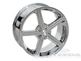 Steeda 013-0001-28 18x9.5 Steeda 94-04 5 spoke Chrome Wheels S197 style /