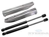 Steeda 555-0651 Plain Billet Hood Strut Kit, 05+ Mustang /