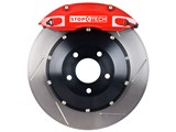 StopTech 83.192.0057.71 2010-2013 Camaro V6 Rear Big Brake Kit 4-Piston Slotted Rotors Red /