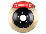 StopTech 83.192.0057.73 2010-2013 Camaro V6 Rear Big Brake Kit 4-Piston Slotted Zinc Rotors Red /