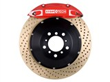 StopTech 83.192.0057.74 2010-2013 Camaro V6 Rear Big Brake Kit 4-Piston X-Drilled Zinc Rotors Red / StopTech 83.192.0057.74 Rear Big Brake Kit