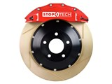 StopTech 83.193.0057.73 2010-2013 Camaro SS V8 Rear Big Brake Kit 4-Piston Slotted Zinc Rotors Red /