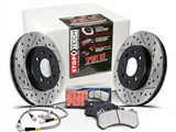 StopTech 978.62001 2010-2014 Camaro V8 Sport Kit F&R X-Drilled & Slotted Rotors Pads Brake Lines /