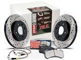 StopTech 979.62001 2010-2014 Camaro SS V8 Sport Kit Front & Rear X-Drilled Rotors, Pads, Brake Lines /