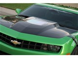 TruCarbon TC30022-A62 Carbon Fiber Hood 2010 2011 2012 2013 Camaro Cowl Hood With See-Through Window /