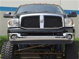 T-Rex 51467 Ram PU Upper Class Mesh Grille - All Black - 2 Pc (Requires cutting OE cross bar) /