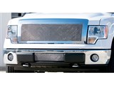 T-Rex 55569 Polished Upper Class Mesh Lower Bumper Grille Insert 2009-2014 Ford F-150 /