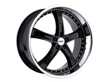 TSW 1780JAR405110B72 17x8 Jarama 5x110 +40mm Wheel - Gloss Black With Mirror Lip Finish / TSW 1780JAR405110B72 17x8 Jarama 5x110 +40mm Wheel