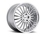 TSW 1780SIL405110S72 Silverstone 17x8 5x110 +40mm Wheel - Silver With Mirror Cut Lip / TSW 1780SIL405110S72 Silverstone 17x8 5x110 +40mm