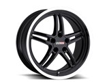 Cray 1790CRS505121B70 Scorpion 17x9 Front/Rear Corvette Wheel - Black /
