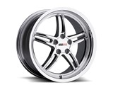 Cray 1790CRS505121C70 Scorpion 17x9.0 Front/Rear Corvette Wheel - Chrome /