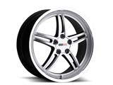 Cray 1790CRS505121S70 Scorpion 17x9.0 Front/Rear Corvette Wheel - Silver /