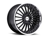 TSW 1880SIL405110B72 Silverstone 18x8 5x110 +40mm Wheel - Black With Mirror Cut Lip / TSW 1880SIL405110B72 Silverstone 18x8 5x110 +40mm