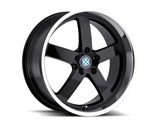 Beyern 1885BYR405120B72 Rapp 18x8.5 5x120 ET:40mm CB:72mm Black Wheel /