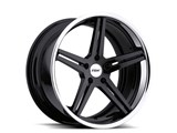 TSW 19x8 Mirabeau 5x120 +35mm Wheel - Gloss Black/Chrome Stainless Lip /