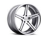 TSW 19x8 Mirabeau 5x120 +35mm Wheel - Silver/Machined Face/Chrome SS Lip /