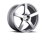 TSW 1990PAN505121S70 Panorama Forged 19x9.0 5x120 Silver W/Mirror Cut Front Wheel Corvette C5/C6/C7 /
