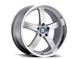 Beyern 1995BYR455120S72 Rapp 19x9.5 Wheel 5x120 45mm Silver With Mirror Cut Lip / Beyern 1995BYR455120S72 Rapp 19x9.5 Wheel
