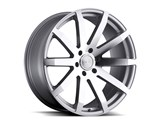 Black Rhino 2410TRV356135S87 24x9.5 Traverse 6x135 35mm ET With 87mm CB Bore - Silver Wheel /