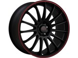 Tenzo TAWC1177008H42R Cuzco Version-1 17x7 4x100 / 4x114.3 +42 Offset Wheel - Black/Red /