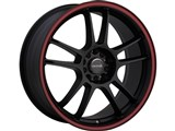 Tenzo TAWD5177008H42R DC-5 Version-1 17x7 Drift Competition 4x100 / 4x114.3 Wheel - Black/Red /
