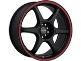 Tenzo TAWD6177008H42R DC-6 Version-1 17X7 Black/Red 4x100 / 4x114.3 +42 Offset Wheel /