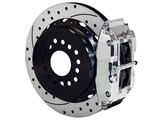 "Wilwood 140-10012-DP SL4R Rear 14"" Brake Kit Polished Drilled 2.50 Offset, Ford Big New Style Axle /"