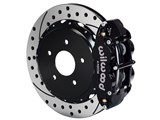 "Wilwood 140-10012-D SL4R Rear 14"" Brake Kit Black Drilled 2.50 Offset, Ford Big New Style Axle /"