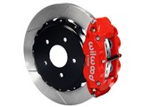 "Wilwood 140-10012-R SL4R Rear 14"" Brake Kit Red Slotted 2.50 Offset, Ford Big New Style Flange Axle /"