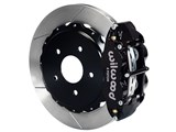 "Wilwood 140-10012 SL4R Rear 14"" Brake Kit Black Slotted 2.50 Offset, Ford Big New Style Flange Axle /"