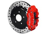 "Wilwood 140-10093-DR SL4R Rear 13"" Brake Kit Red Drilled 1963-1987 C-10/C15 Truck/SUV W/2.42 Axle /"