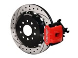 "Wilwood 140-10158-DR Red Combo Parking Brake Caliper Rear Brake Kit 13"" Drilled 1994-2004 Mustang /"
