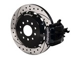 "Wilwood 140-10158-D Black Combo Parking Brake Caliper Rear Brake Kit 13"" Drilled 1994-2004 Mustang /"