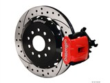 "Wilwood 140-10159-DR Red CPB Caliper Rear Brake Kit 13"" Drilled+Slotted 2005-2014 Mustang /"