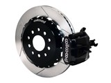 "Wilwood 140-10159 Black Combo Parking Brake Caliper Rear Brake Kit 13"" Slotted 2005-2014 Mustang /"