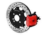 "Wilwood 140-10208-DR CPB 11"" Rear Big Brake Kit, Drilled, Red, 1992-2000 Honda Civic / Wilwood 140-10208-DR"