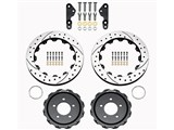 Wilwood 140-12468-D Promatrix Rear 2-Piece Performance Drilled Rotor Kit 2005-2013 Ford Mustang /
